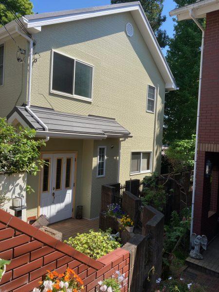 練馬区で外壁塗装(タテイルフロン)屋根カバー工法(スーパーガルテクト)